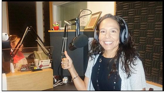 photo - Claudia on radio show